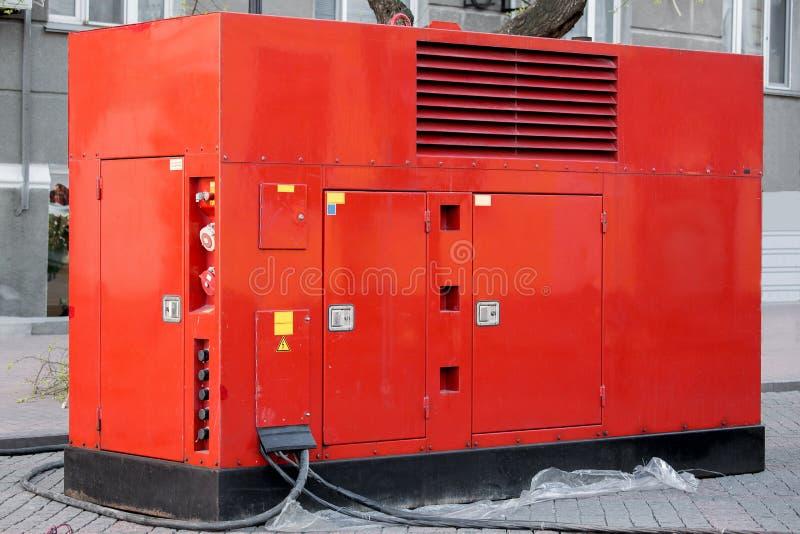 Generador móvil de la energía eléctrica para las situaciones de emergencia fotografía de archivo