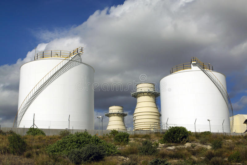 Generadores de la turbina de gas fotografía de archivo libre de regalías
