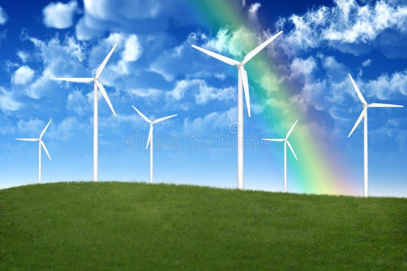 Generadores de viento stock de ilustración