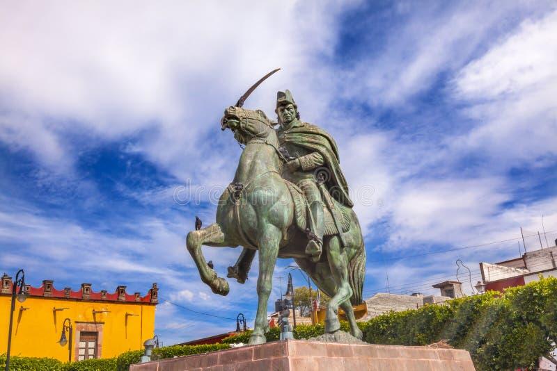 General Allende Estátua Plaza Civica San Miguel de Allende Mexico fotografia de stock royalty free