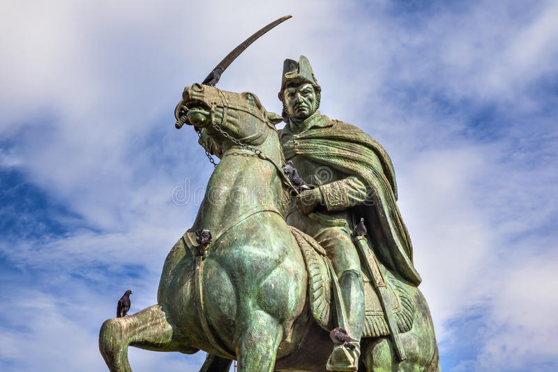 General Allende Statue San Miguel de Allende Mexiko stockbild