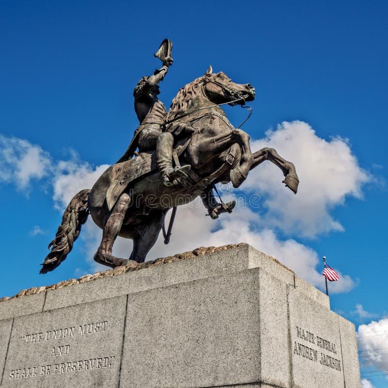 General Andrew Jackson en un caballo fotografía de archivo libre de regalías