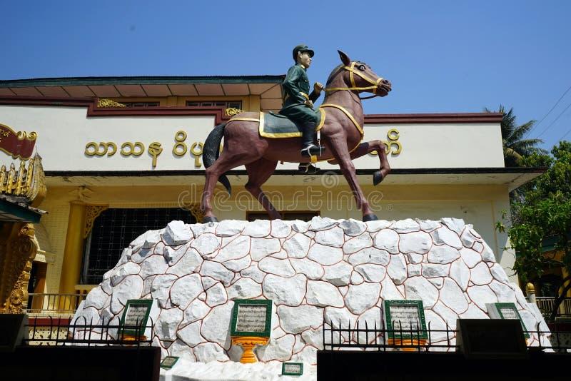 General Aung San. BAGO, MYANMAR - CIRCA APRIL 2017 Statue of general Aung San royalty free stock photos