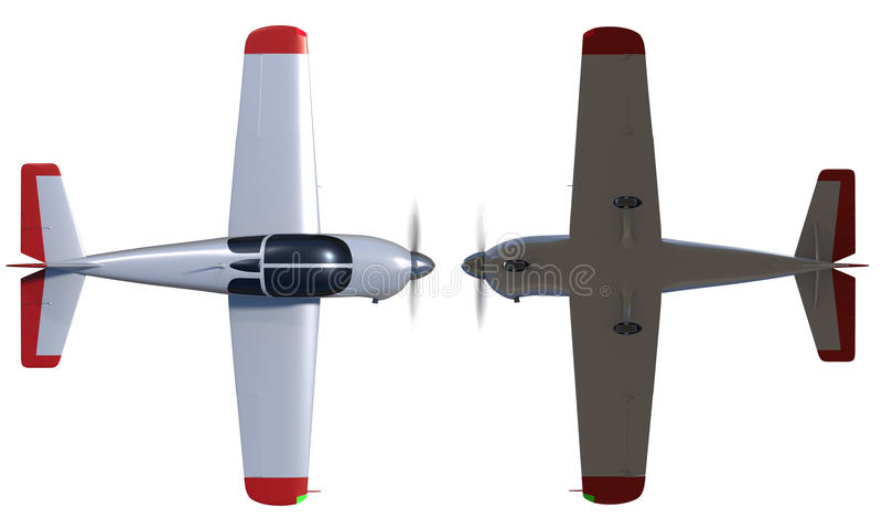General aviation aircraft render vector illustration
