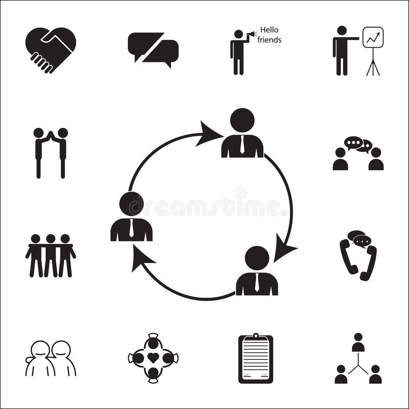 General business contacts icon. Conversation and Friendship icons universal set for web and mobile. On white background vector illustration