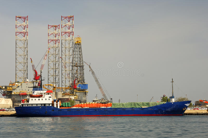Download General Cargo Ship At A Port Call Stock Image - Image: 12348237