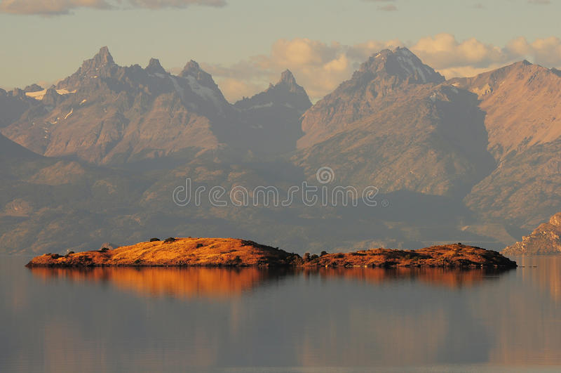 Download General Carrera lake. stock image. Image of evening, lake - 31665983