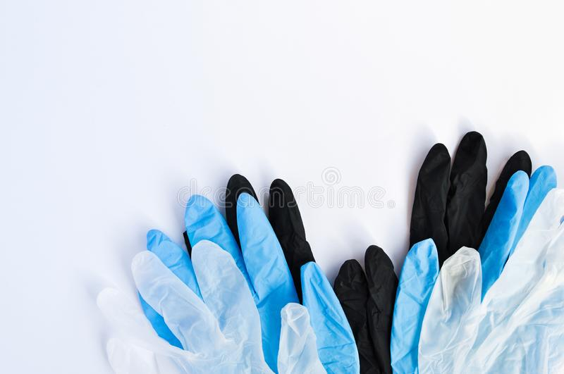 General cleaning of the house. Accessories for washing Windows: gloves, cleaning cloth, squeegee, liquid detergent. stock photography