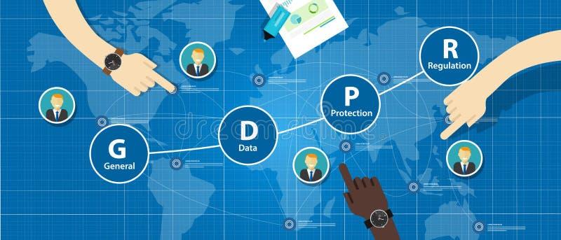 General Data Protection Regulation GDPR Concept Illustration. In vector royalty free illustration