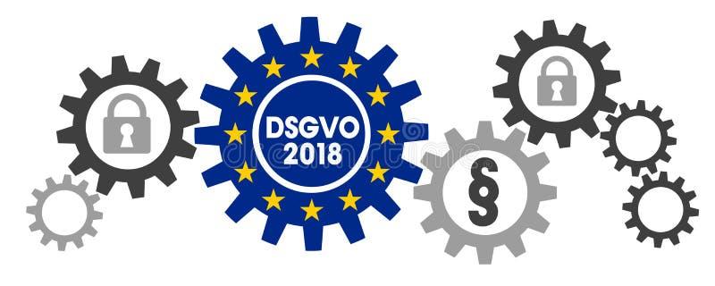 General Data Protection Regulation GDPR DSGVO vector illustration