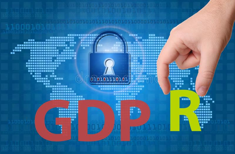General Data Protection Regulation GDPR royalty free stock photography