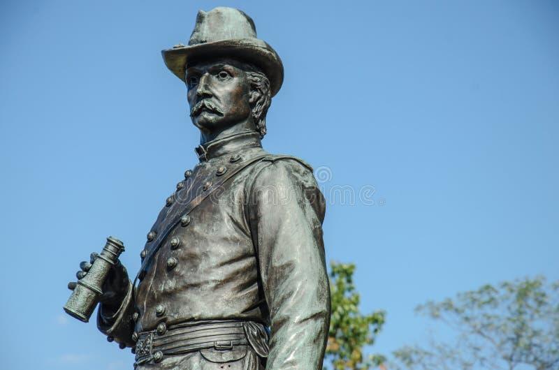 General de brigada K Warren - Gettysburg fotografía de archivo libre de regalías