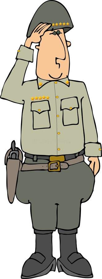 General de cinco estrelas ilustração royalty free