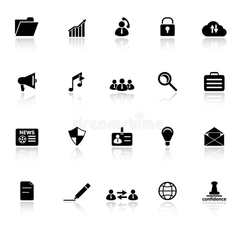 Download General Document Icons With Reflect On White Backg Stock Vector - Image: 38033249