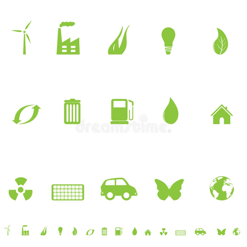 General Eco Symbols Royalty Free Stock Photography