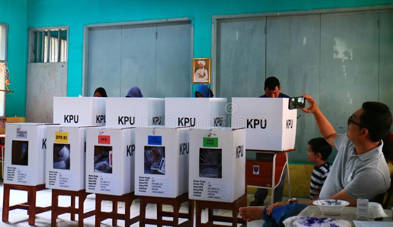General Elections in Indonesia royalty free stock image