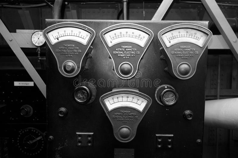 General Electric Vintage Gauges royalty free stock photography