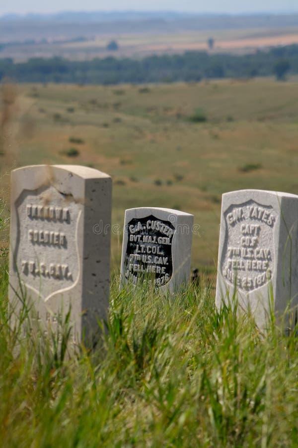 General George A El lugar de descanso de Custer imagen de archivo