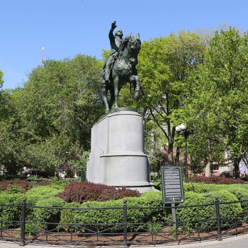 General George Washington Equestrian Statue bei Union Square in Manhattan stockbild