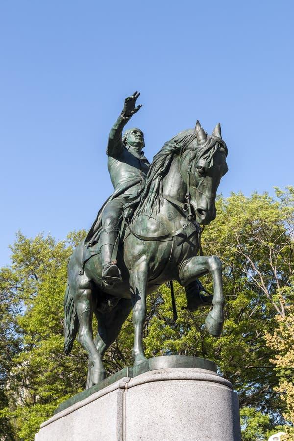 General George Washington Statue NYC fotografía de archivo