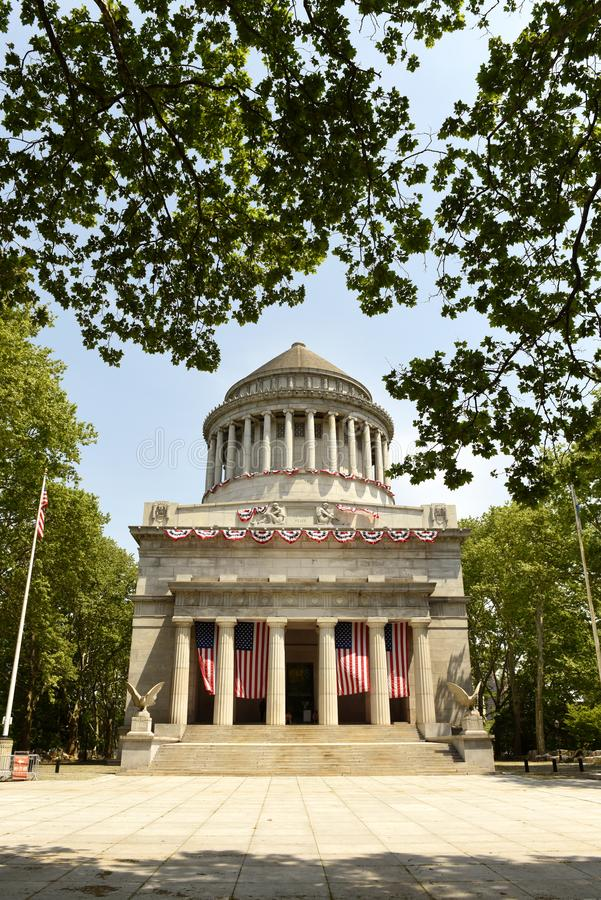 General Grant National Memorial no parque do beira-rio em Manha superior foto de stock