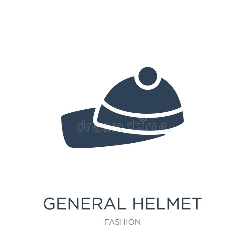 General helmet icon in trendy design style. general helmet icon isolated on white background. general helmet vector icon simple. And modern flat symbol for web stock illustration