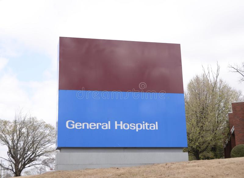 General Hospital. A General Hospital serves general medical needs and all types of aliments and emergency, urgent and minor medical care to people in need stock images