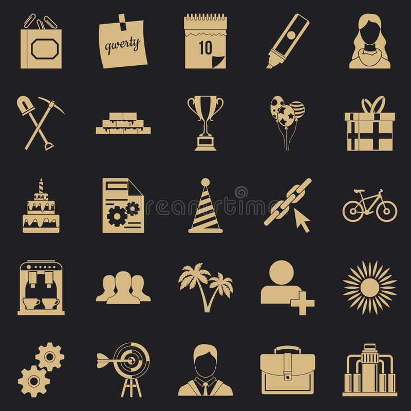 General icons set, simple style. General icons set. Simple set of 25 general vector icons for web for any design stock illustration