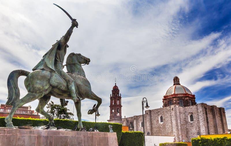 General Ignacio Allende Statue Plaza Civica San Miguel de Allend lizenzfreie stockfotos