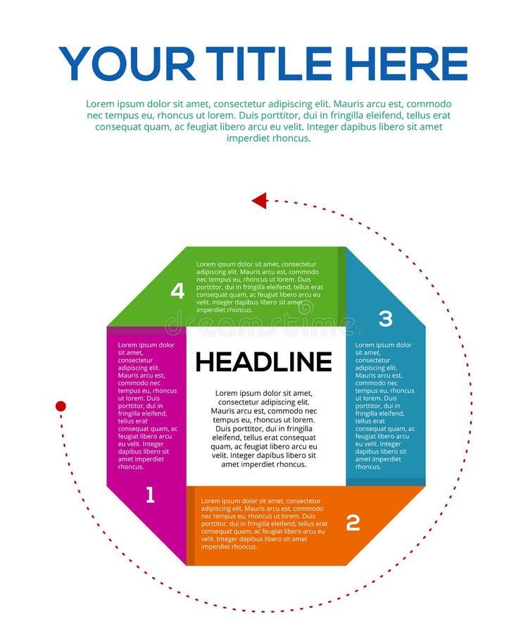 General Infographic för affär eller moment av det idérika tinget stock illustrationer