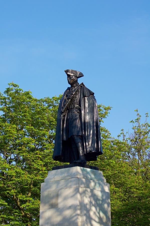 General James Wolfe Statue. In London Greenwich Observatory peak park stock image