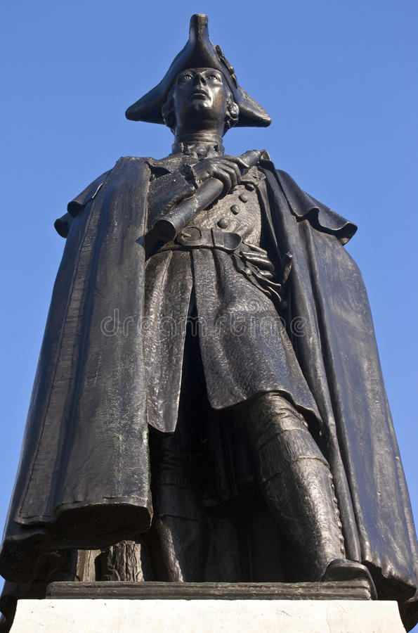 General James Wolfe Statue In Greenwich Park Royalty Free Stock Images