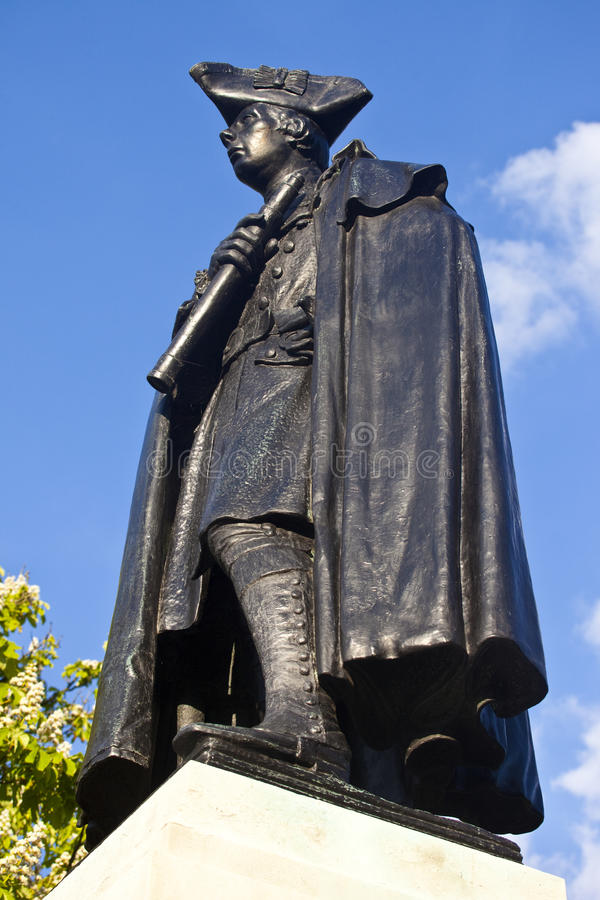 General James Wolfe Statue In Greenwich Park Stock Photo