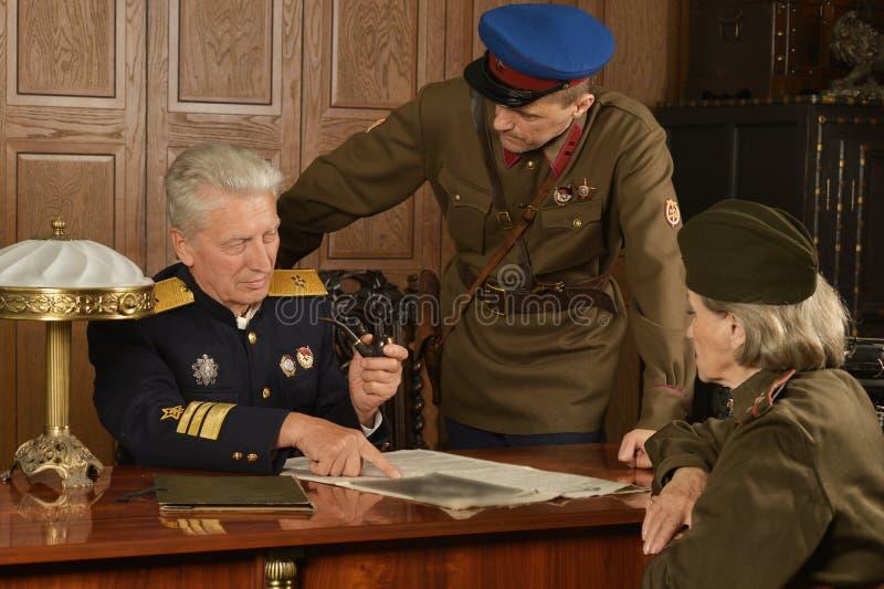 General maduro militar imagem de stock