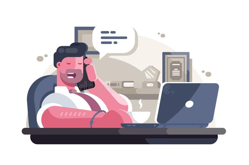 General manager in office vector illustration