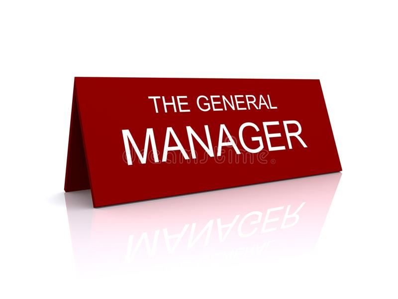 Download General Manager Sign Royalty Free Stock Photography - Image: 12040217