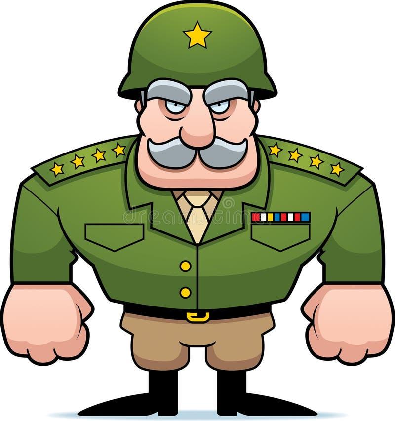 General militar ilustración del vector