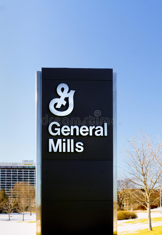 General Mills Corporate Headquarters and Sign. GOLDEN VALLEY, MN/USA - JANUARY 18, 2015: General Mills corporate headquarters and sign. General Mills, Inc. is an stock image