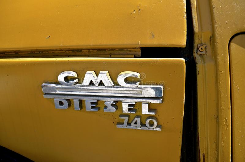 General Motors Corporation logo on a pickup royalty free stock photos