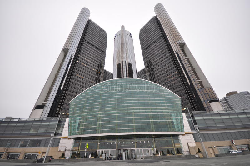 General Motors Headquarters royalty free stock image