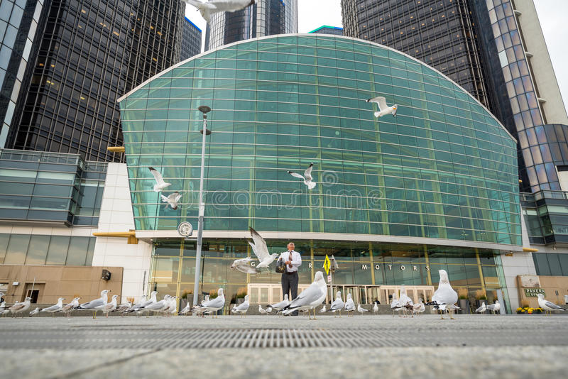 The General Motors Renaissance Center in Detroit Michigan royalty free stock photos