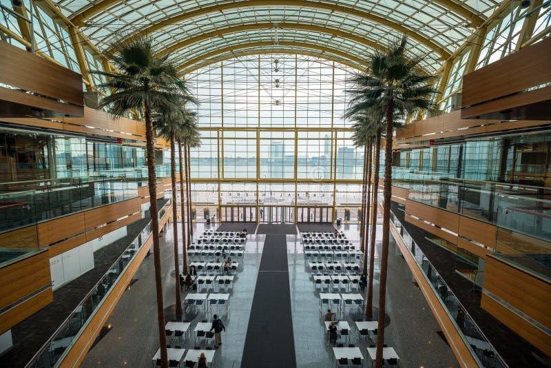 The General Motors Renaissance Center in Detroit Michigan stock photos
