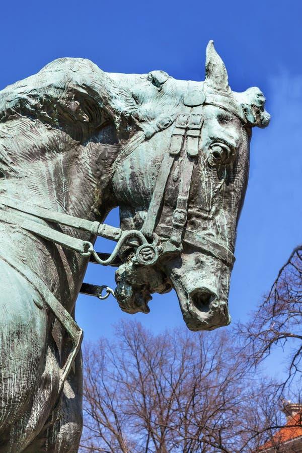 General Phil Sheridan Horse Statue Sheridan Circle Embass de Rienzi imagens de stock