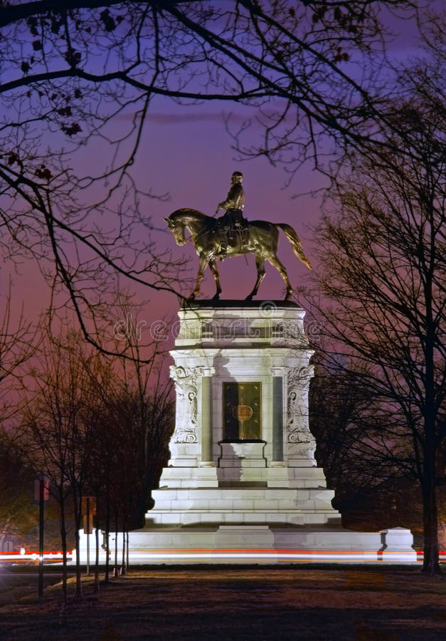General Robert E. Lee monument, Richmond, VA royalty free stock images