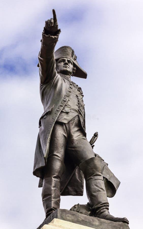 General Rochambeau Staty Lafayette parkerar Autumn Washington DC royaltyfria foton