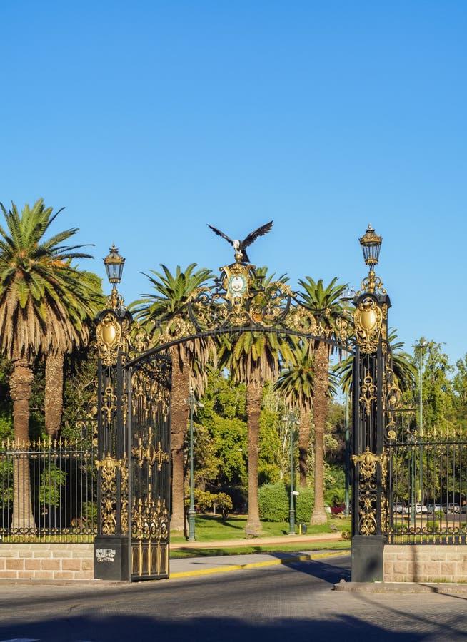 General San Martin Park i Mendoza, Argentina arkivbilder