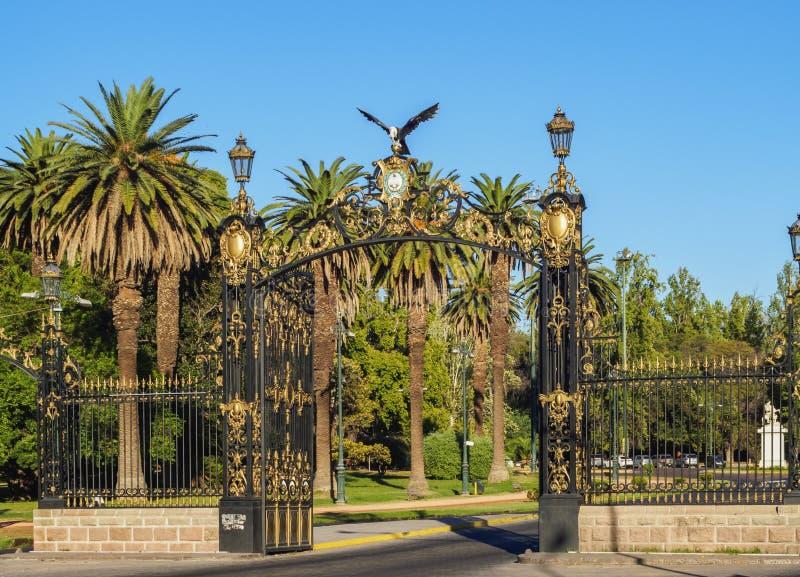 General San Martin Park in Mendoza, Argentina. Portones del Parque, decorative gate, General San Martin Park, Mendoza, Argentina royalty free stock image