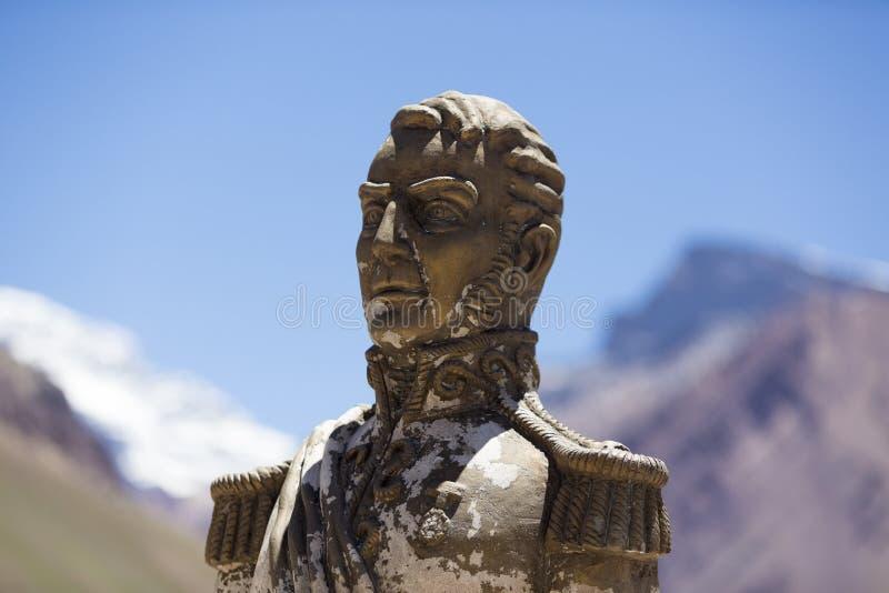 General San Svala på den Aconcagua nationalparken, Argentina royaltyfria bilder