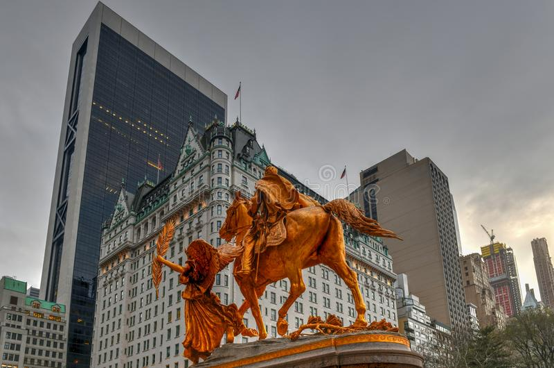 General Sherman Monument - New York City stockbild