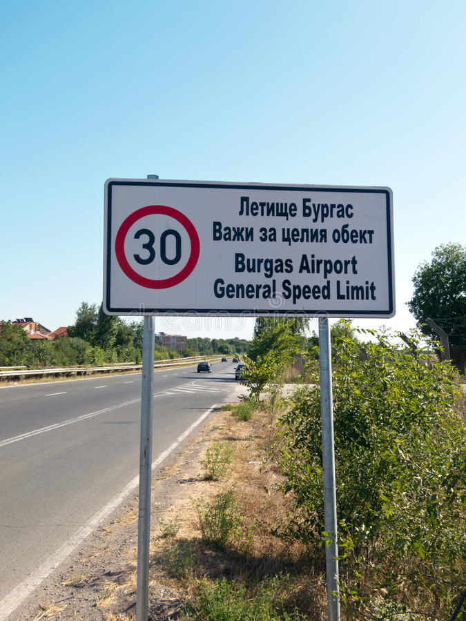 Download General speed limit editorial stock photo. Image of streets - 25818983